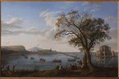 Jakob Philipp Hackert,Ferdinando IV a caccia di folaghesul lago di Fusaro, 1783,