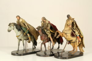Restauro dei Re Magi a cavallo