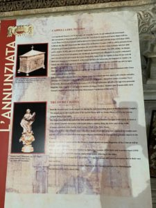 Pannelli per la Basilica della Santissima Annunziata Maggiore